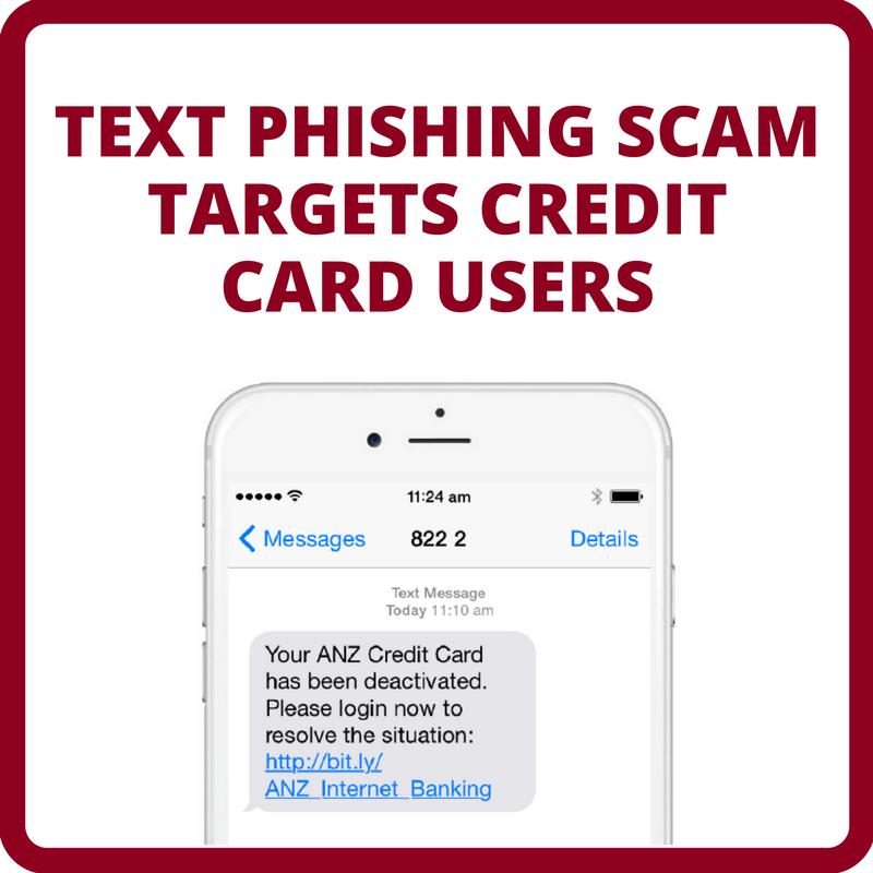 Text Phishing Scam